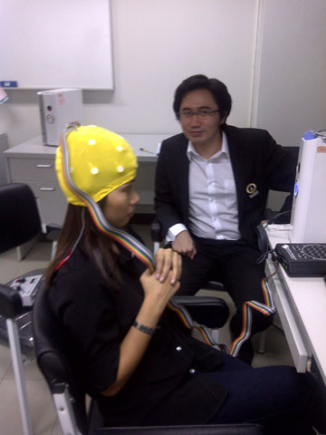 Dr Yodchanan overseeing training