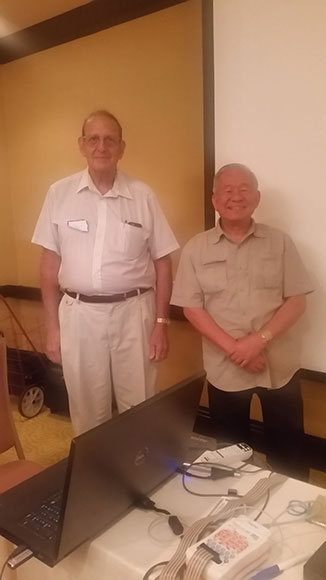 Dr Joel Lubar with Dr Joseph Guan